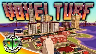 Voxel Turf Gameplay : Build Cities,  Battle Friends, Create an Empire! (PC Sandbox Let