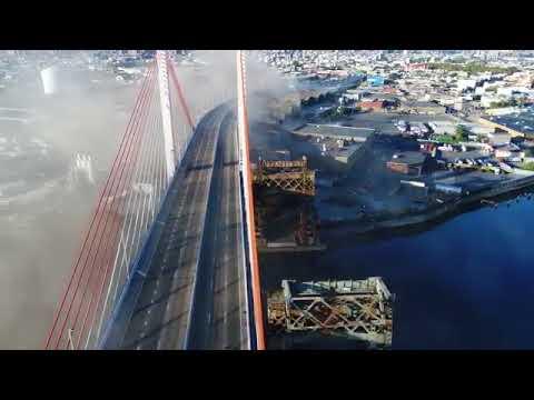 Kosciuszko Bridge Aerial b roll