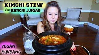 KIMCHI STEW aka KIMCHI JJIGAE  Mukbang & Recipe