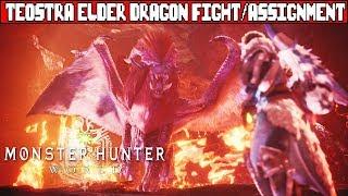 MONSTER HUNTER WORLD Teostra Elder Dragon Boss Fight