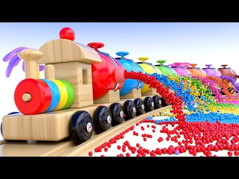Thumbnail: Learn Colors with Preschool Toy Train and Color Balls - Shapes & Colors Collection for Children