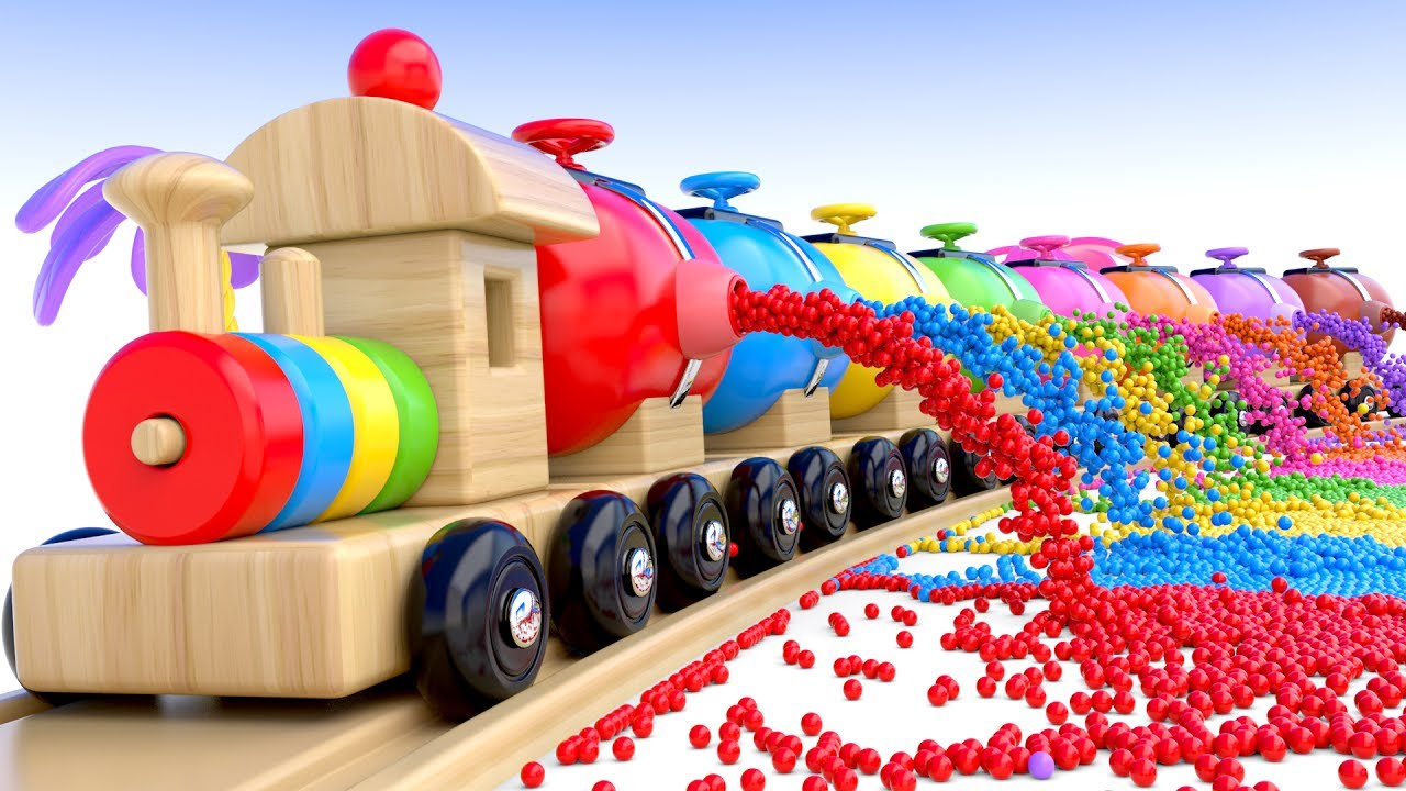 Learn Colors With Preschool Toy Train And Color Balls