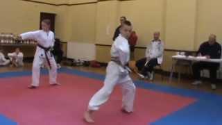 Jamie Brown FINAL wado ryu karate kata pinan sandan WIN!!