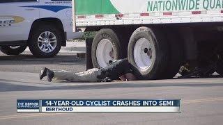 Teen on bicycle hurt in collision with semi in Berthoud