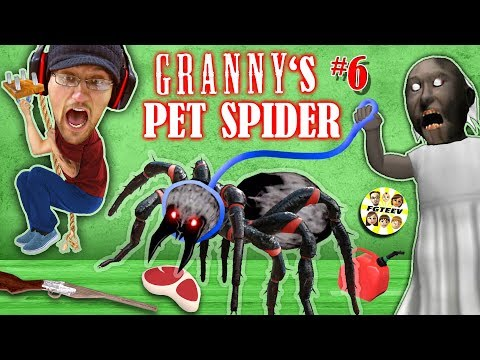 GRANNY's PET SPIDER + SECRET ROOMS w/ Annoying Baldi's Basics!! (FGTEEV Gameplay)