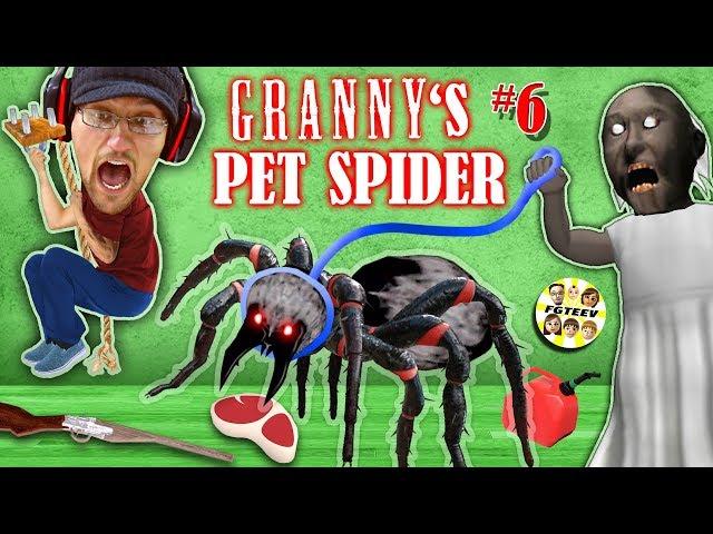 GRANNYs PET SPIDER + SECRET ROOMS w/ Annoying Baldis Basics!! (FGTEEV Gameplay)
