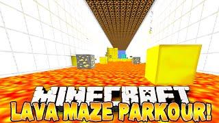 Minecraft - LAVA MAZE PARKOUR! w/Preston & Kenny