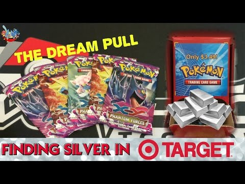 I PULLED THE SILVER CARD 5 Phantom Forces Weird Target Loose Packs Pokemon Card Opening