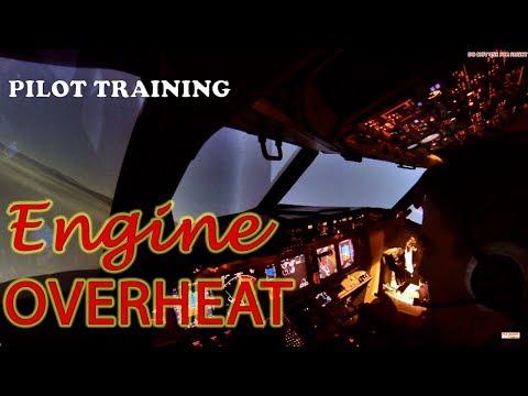 B737 pilot training. Engine Overheat and VOR/DME approach
