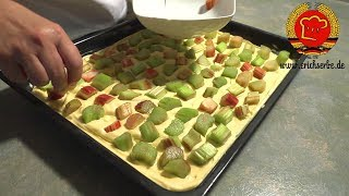 ostdeutscher Rhabarberkuchen nach DDR Rezept