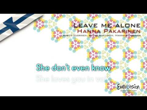 "Hanna Pakarinen - ""Leave Me Alone"" (Finland) - [Karaoke version]"