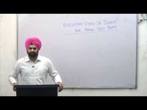 DISCUSSION VIDEO FOR SOURCES FOR MAINS TEST NO. 9