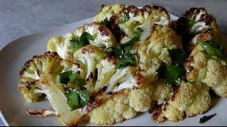 Roasted Cauliflower with Lemon Dressing