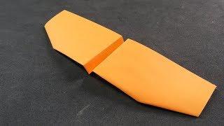 Como Hacer un Avión de Papel que Vuela Mucho y Lejos - EL PARAPENTE - Paper Airplane