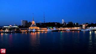 Морской порт Сочи (ночь)