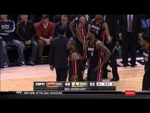 Lance Stephenson And Dwyane Wade Double Technicals: Miami Heat At Indiana Pacers