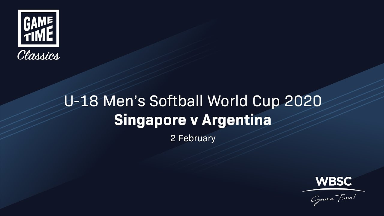 Singapore v Argentina - U-18 Men's Softball World Cup 2020