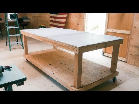 Building a BIG Rolling Workbench for our Leather Workshop