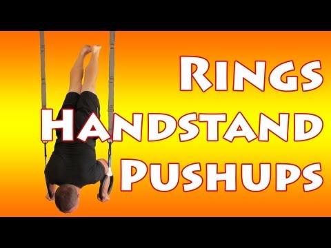 HANDSTAND PUSHUPS ON RINGS!