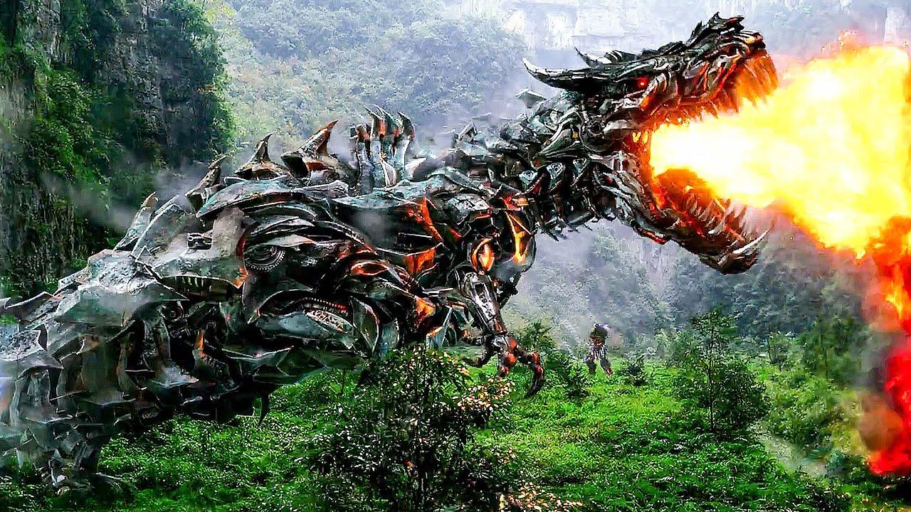 T-rex Transformers Fight Scene