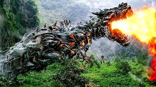 T-Rex Transformers Fight Scene - TRANSFORMERS 4: AGE OF EXTINCTION (2014) Movie Clip