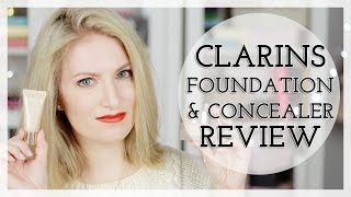 Clarins Extra Comfort Foundation & Instant Concealer Demo / Review