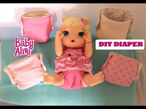 Diy How To Make Baby Alive Reusable Doll Diapers Free