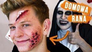 ♦ Rana domowym sposobem: Karty wbite w twarz i poparzenie na Halloween ♦ Agnieszka Grzelak Beauty