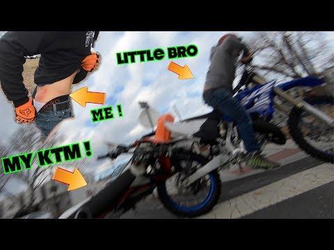 I FELL ON MY KTM ! (caught on camera)