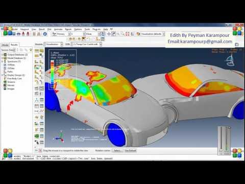 Crash test simulation in Abaqus - YouTube