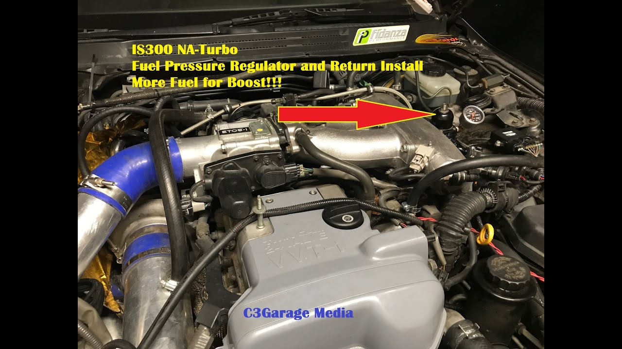 Fuel for More Boost!! Lexus IS300 NA-T Fuel Regulator and Return Install