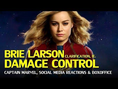 Captain Marvel Captain Marvel Damage Control Brie Larson Controversies Continue