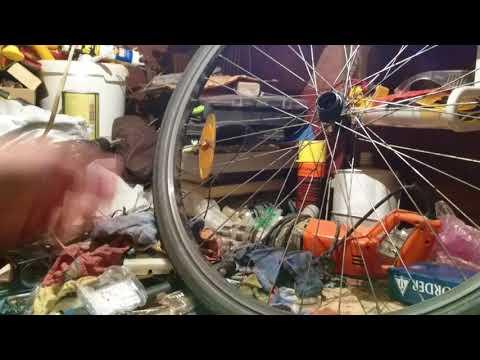 Замена насыпных подшипников оси заднего колеса на промышленные.
