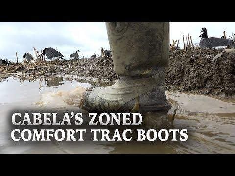 Cabela's Men's Zoned Comfort Trac Rubber Boots