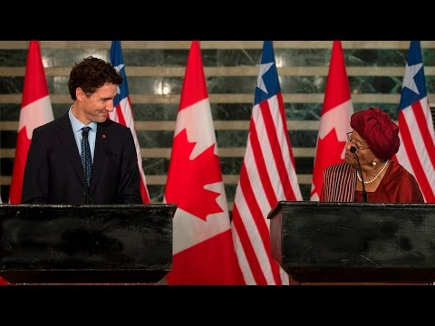 Trudeau asked about women and LGBTQ rights in Liberia