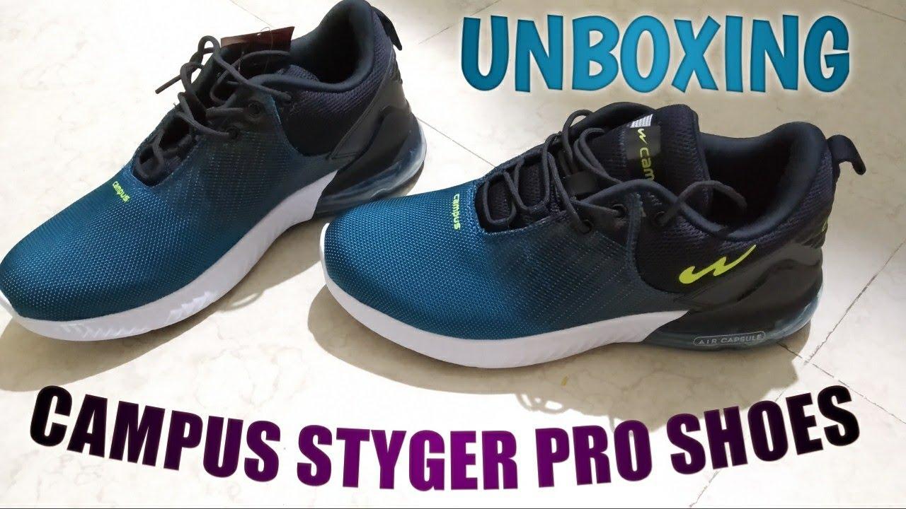Campus Styger Pro Shoes Unboxing - YouTube
