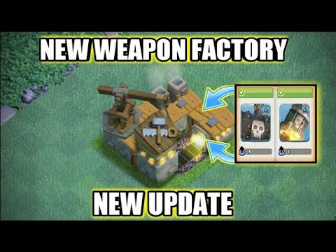 NEW *WEAPON FACTORY* UPDATE IN BUILDER BASE | NEW TROOPS, NEW WEAPON (UPDATE CONCEPT)