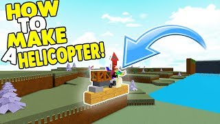 How To Make A Helicopter | Build A Boat For Treasure ROBLOX