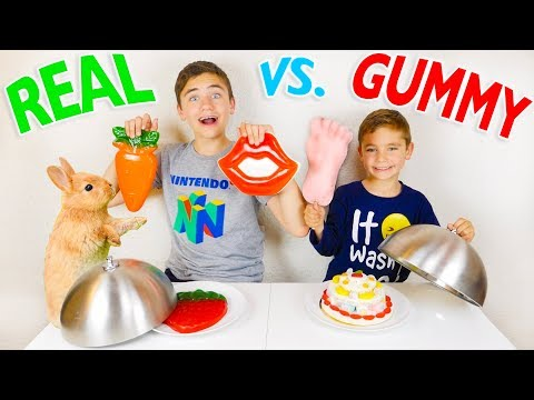 Gummy Food Vs Real Food Challenge Bonbons Ou Vraie No