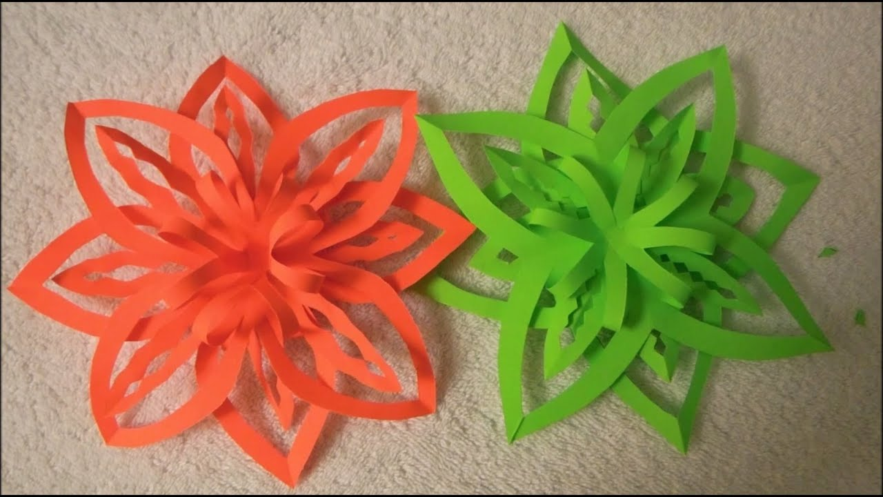 Diy easy paper christmas ornament snowflake design 2 youtube jeuxipadfo Choice Image