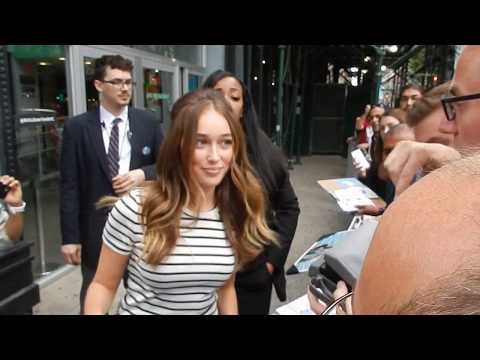 Fear of The Walking Dead: Alycia Debnamcarey interacts w  at NYC