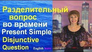 Разделительный вопрос во времени Present Simple. Disjunctive Question