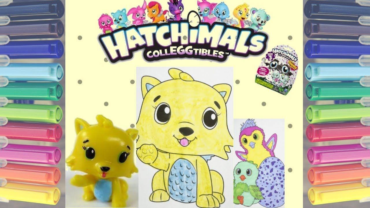 Hatchimals Colleggtibles Kittycan The Yellow Cat Coloring Page With