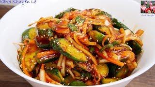 Kim Chi Dưa Leo - Cách làm Dưa Kim Chi trộn ăn liền Chay Mặn đều dùng được by Vanh Khuyen
