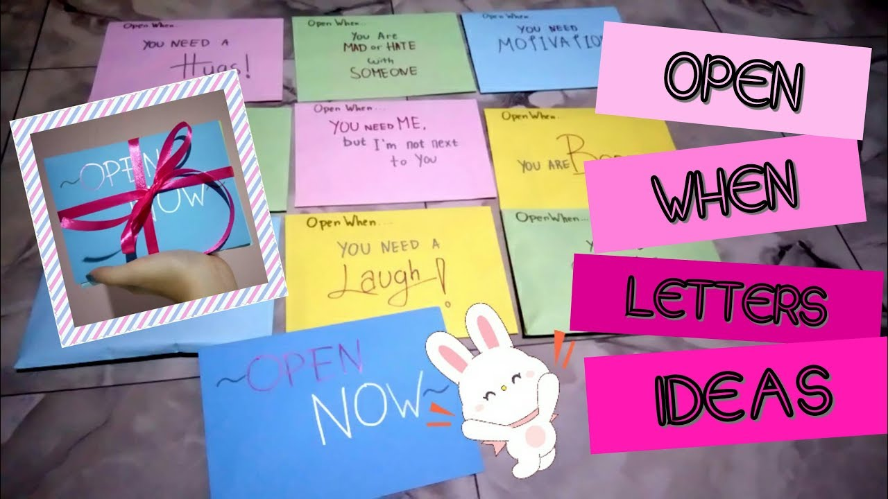open when letters for best friend 10 open when letters ideas gift for friends or 36243