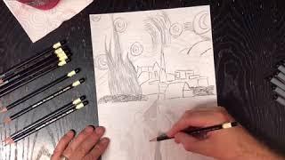 "Drawing of the ""Stranger Things"" kids riding bikes towards danger"