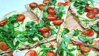 Пицца и кабачки это фантастика! Нежнейшая Пицца с кабачками и ветчиной.