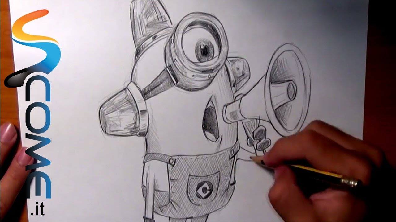 Guarda come disegnare il minion ambulanza di cattivissimo for Disegni disney facili da disegnare