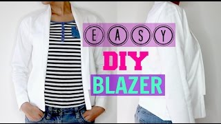 How to make easy DIY Blazer/Jacket step by step tutorial (Beginners  Friendly) 2018