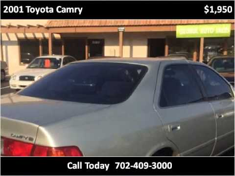 2001 Toyota Camry Used Cars Las Vegas NV